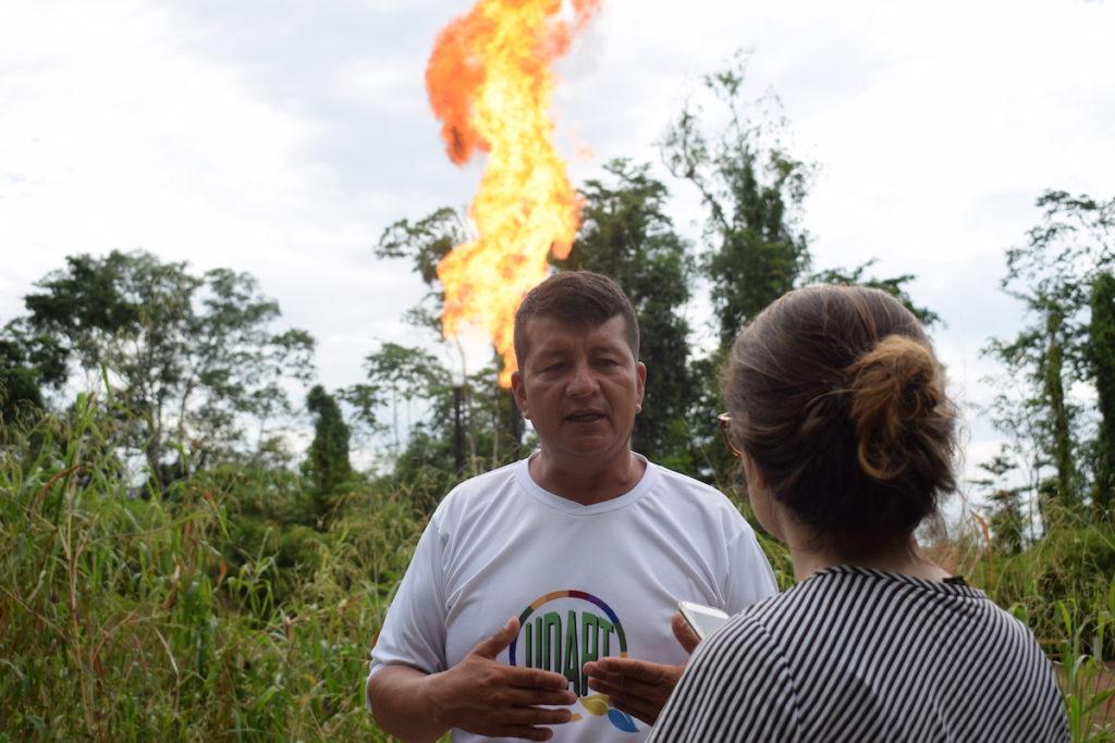 Donald Moncayo, dirigente de la Unión de Afectados por Chevron-Texaco (UDAPT). Fotografía de José María León para Mongabay Latam.