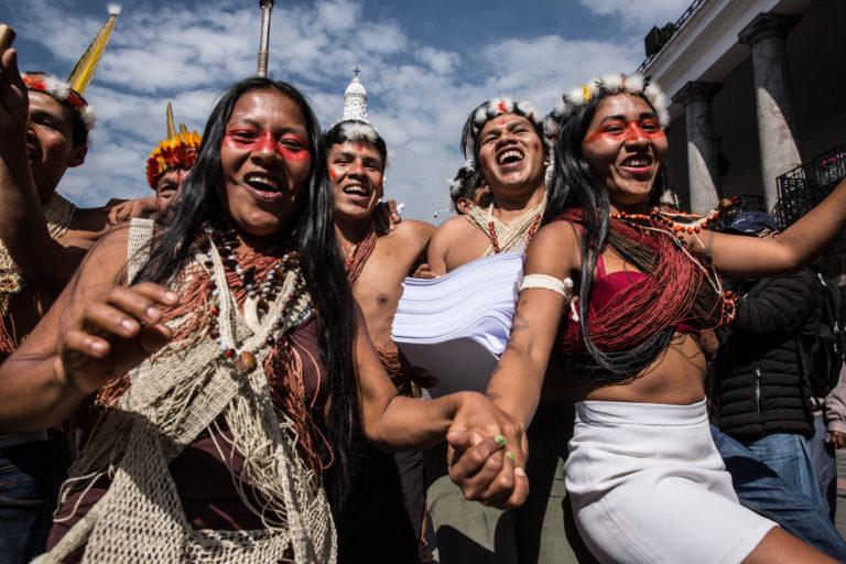Indígenas Waorani de Ecuador ganan fallo de segunda instancia y prohiben ingreso de petroleras. Foto: Jerónimo Zuñiga / Amazon Frontlines.
