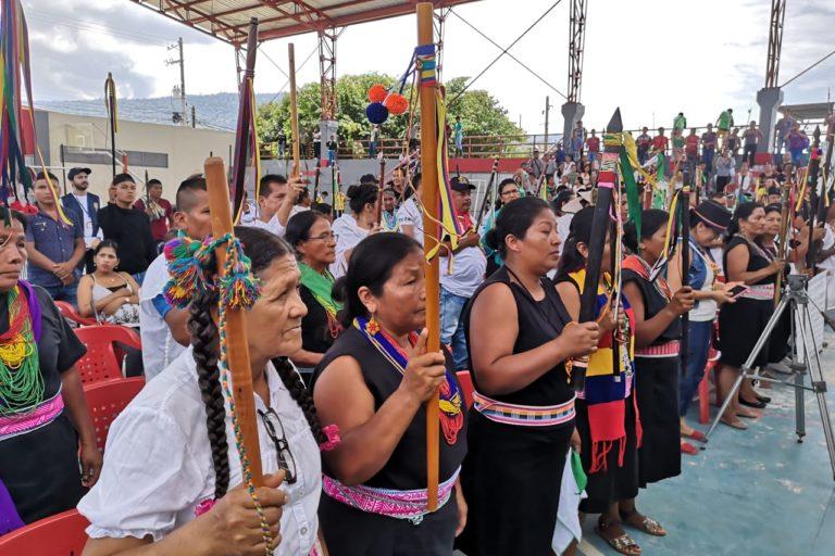 Los indígenas del Putumayo piden protección de sus territorios. Foto: Robinson López, coordinador de Derechos Humanos de la Opiac.