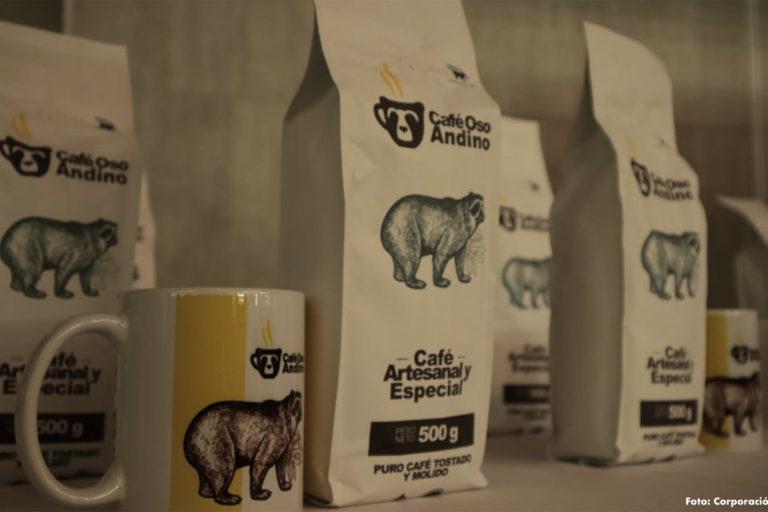 Café Oso Andino es un nuevo producto desarrollado para apoyar la conservación de la especie. Foto: Corporación Manantial.