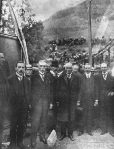 Presidentes Baquerizo del Ecuador y Suárez de Colombia, Rumichaca, 1920.