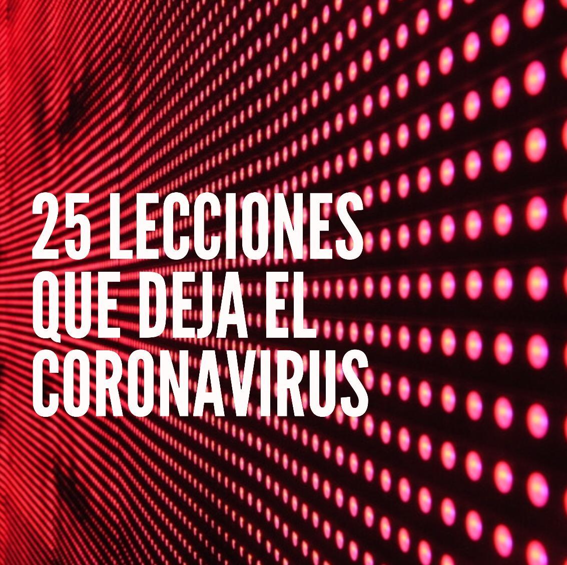 Lecciones del Coronavirus