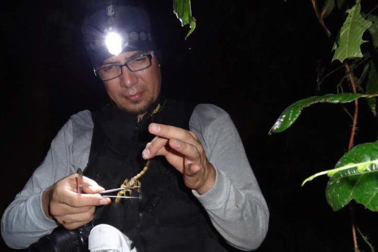 El biólogo mexicano Diego Barrales Alcalá, creador de la cuenta @Arachno_cosas.