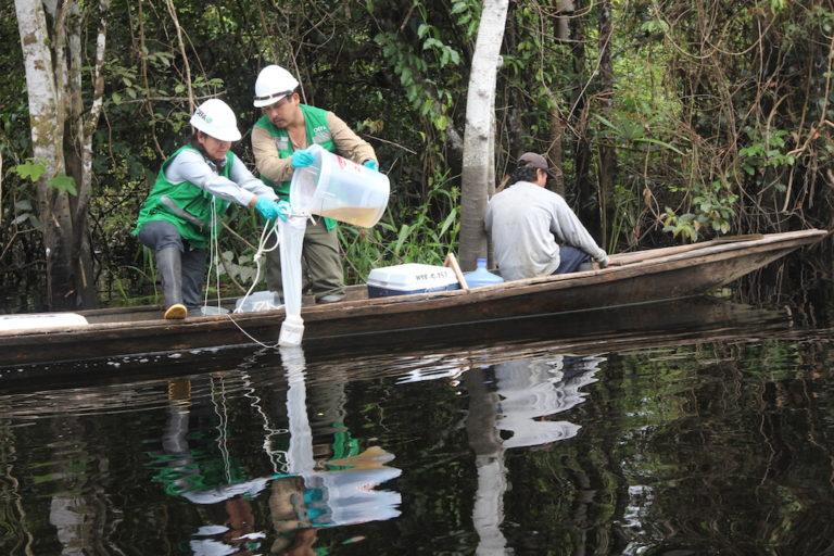 Derrame de petróleo en la comunidad de Cuninico sucedió en 2015. Foto: Copyright © Barbara Fraser.