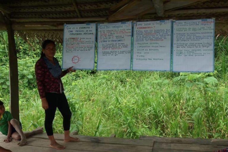 Las comunidades nativas temen que el coronavirus llegue a sus territorios. Foto: Orpio.