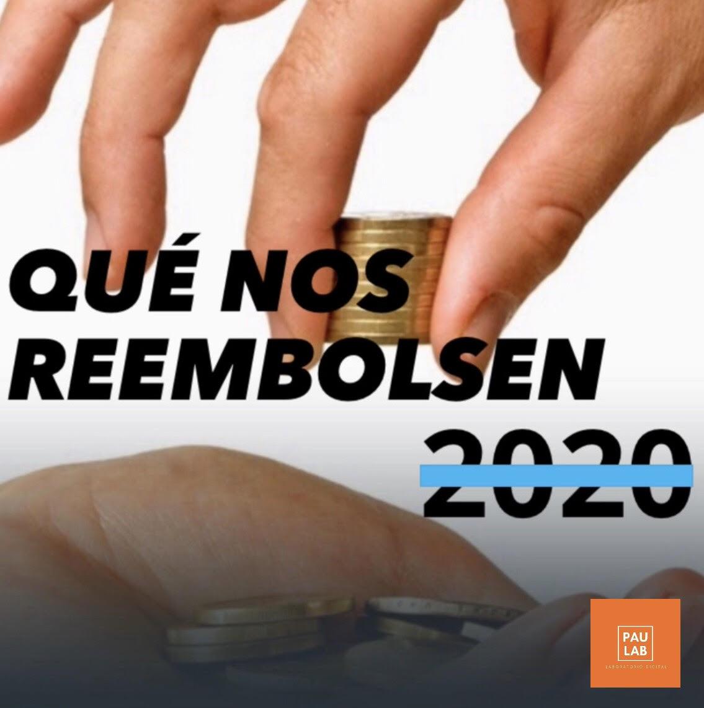 Qué nos reembolsen el 2020
