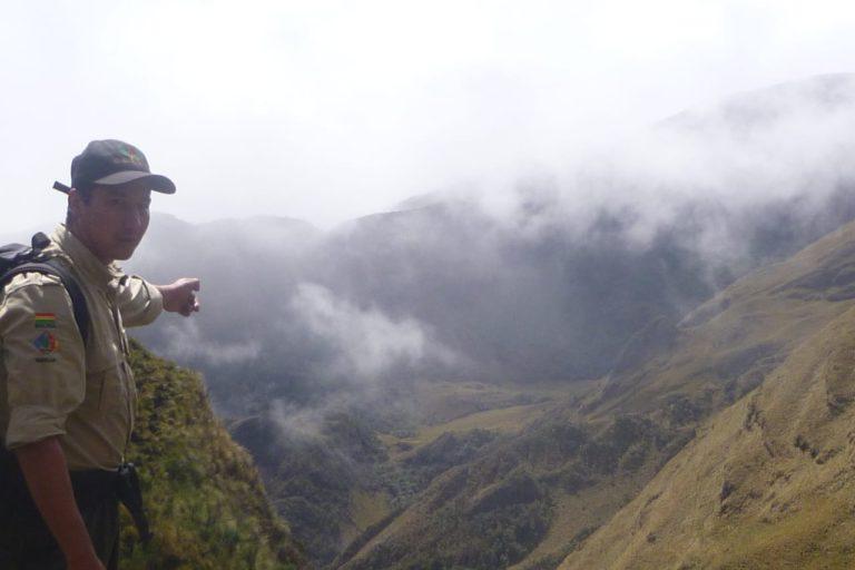 César Bascopé lleva 15 años custodiando el Parque Nacional Madidi, en Bolivia. Foto: César Bascopé.