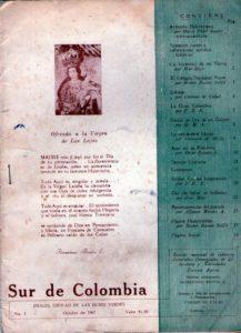 Revista Sur de Colombia, 1967.