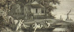 """""""Tumaco en colombie: l'auteur recontre un compatriote"""" (Tumaco en Colombia) Lafond, Gabriel, 1843."""