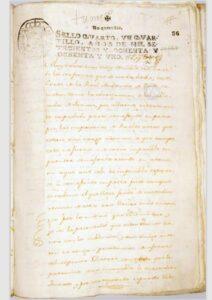 Proceso contra la revolución de Tumaco en 1781.