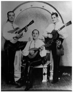 Gilberto Ramos, Salomón Martínez y Nano Rodrigo, 1930, foto: Nasib.
